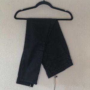 {Zara} Waxed Denim Dark Blue Zipper Pants